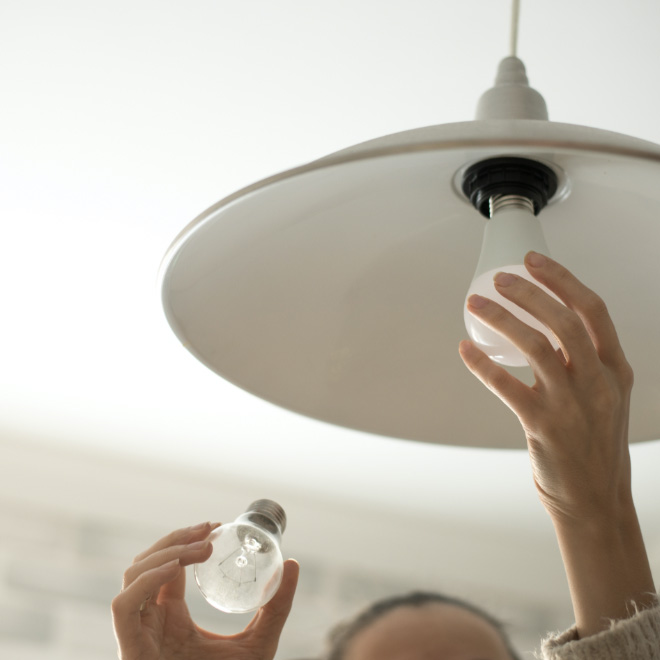 Ross Place Inclusive Services Maintenace Changing Light Bulb