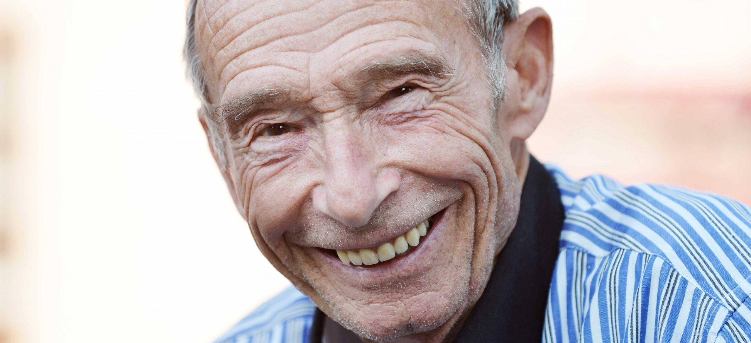 happy, smiling senior man